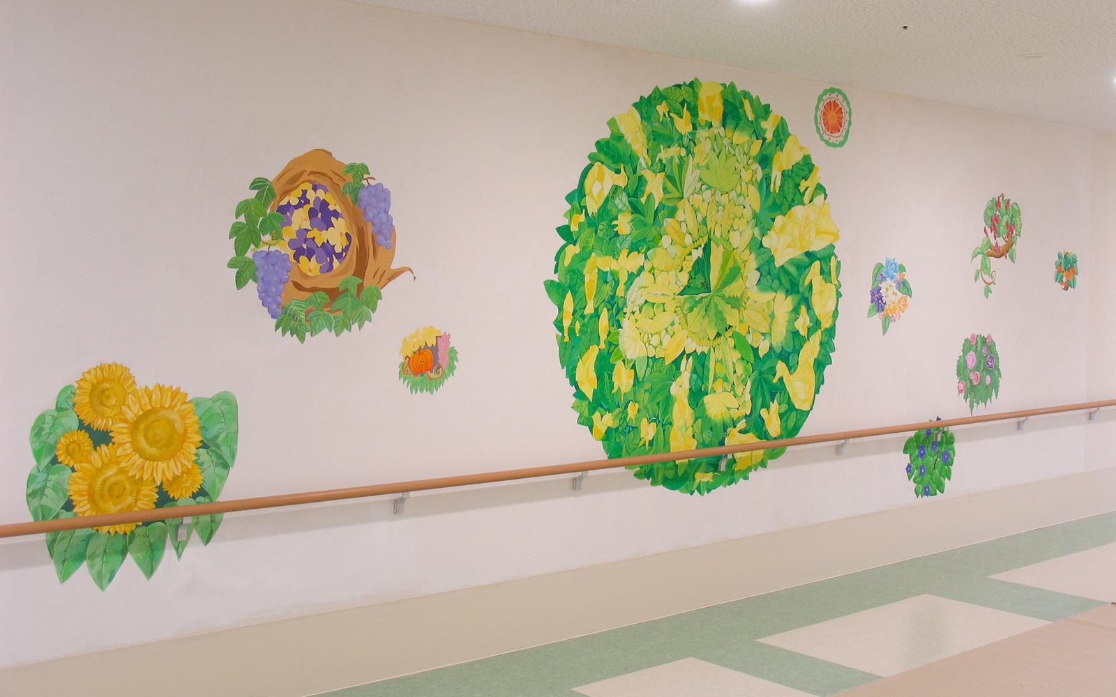 ホスピタルアート 府中病院 壁画とサイン