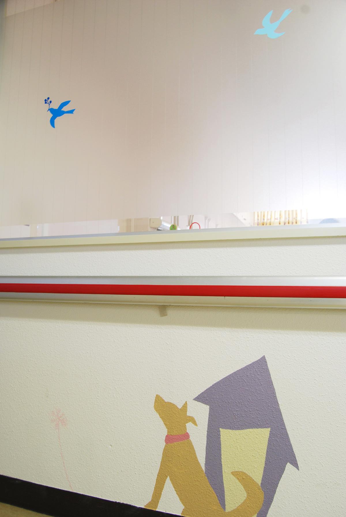 ホスピタルアート 香川小児病院 壁画「旅する鳥」