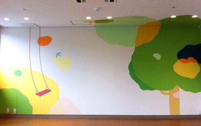ホスピタルアート 音羽病院 壁画 Season Wall
