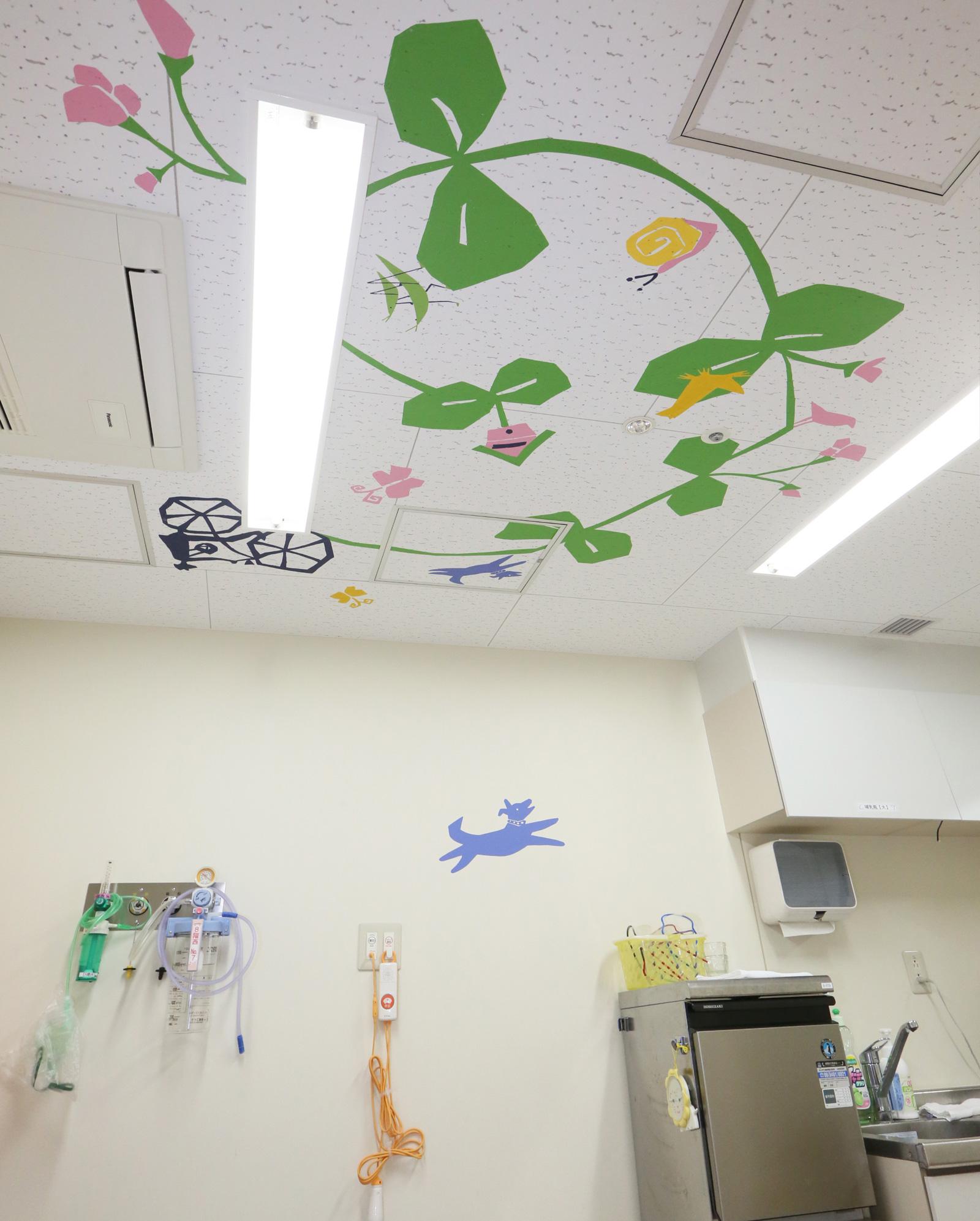 ホスピタルアート 大阪病院 小児科処置室 壁画